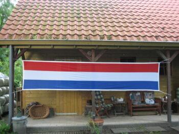 Nederlandse vlag Spandoek