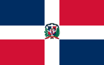 Vlag van Dominicaanse Republiek